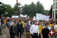 Über 1000 Personen protestierten in Karlsruhe gegen Softwarepatente