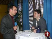 Heinz-Markus Gräsing beim Interview