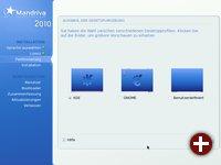 Auswahl der Desktopumgebung