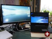 AOC u2868pqu (links) und FTS Amilo Xi 3650 (rechts)