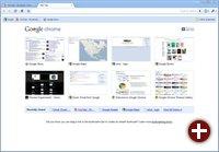 Die neue Tab-Seite von Chrome 3.0