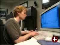 Carmack bei der Arbeit an Doom3