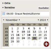 Abfall-Termin im GNOME-Kalender