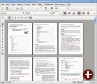 Multipage-Ansicht im neuen Abiword 2.8