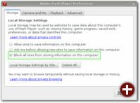 Adobe-Flash-Einstellungen