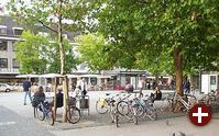 Der Altstadtplatz unweit des Bahnhofs