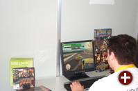 Am Stand von Holarse gab es viele Spiele zu sehen - hier ein Autorennen auf dem Bildschirm