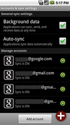 Mehrere Accounts in Android 2.0