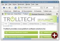 Der Qt-Webbrowser Arora unter Gnome mit Clearlooks-Style