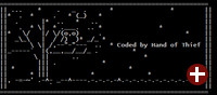 ASCII-Art des Schädlings »Hand of Thief«