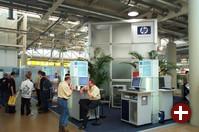 Auch HP war als einer der Hauptsponsoren mit einem großen Stand vertreten