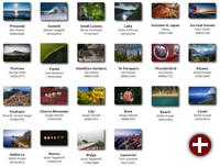 Auswahl der Bildschirmhintergründe in Linux Mint 19.1