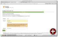 Backend-Benutzer erstellen und Webseitennamen vergeben