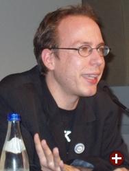 Markus Beckedahl bei seinem Vortrag in Wien
