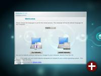 Begrüßungsbildschirm der Kubuntu-DVD