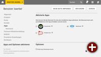 Benutzer-App-Einstellung in Univention Corporate Server 4.4