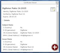 Betrachter für Zertifikate und Schlüsseldateien