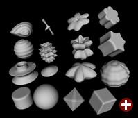 Bild 10: Mit der Superformel erzeugte Oberflächen