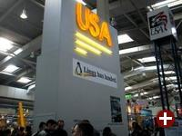 Das USA-Terrain in Halle 6