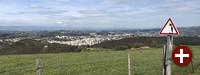 Blick auf St. Etienne, Frankreich