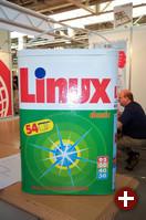 Blickfänger am eBis-Stand: Das Linux-Waschmittel