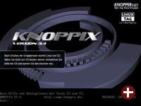 Der Knoppix- Bootbildschirm