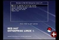 Bootbildschirm von RHEL 6.7