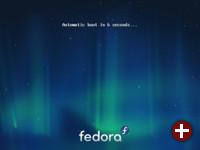 Bootloader der Live-CD von Fedora 15