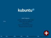 Bootmenü der Kubuntu-DVD