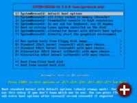 Bootmenü von SystemRescueCD 4.0.0