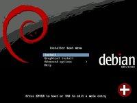 Installations-Bootscreen von Debian 5.0