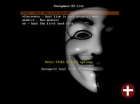 Bootscreen von Anonymous OS
