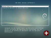Bootscreen von Debian 9