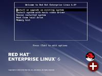 Bootscreen von RHEL 6.8
