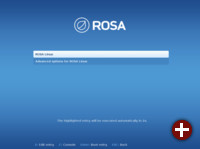Bootscreen von ROSA Desktop 2012