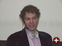 James Bottomley bei der Keynote