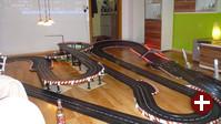 Carrera-Bahn während der OpenSlot-Tests