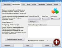 Partitionierung bei der Installation von CCux Linux