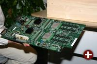 Das fertige Board des Cell-Systems ohne CPU-Kühler