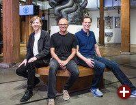 Chris Wanstrath, Github CEO; Satya Nadella, Microsoft CEO; Nat Friedman, Xamarin