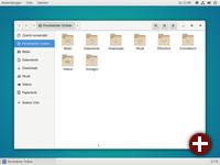Gnome Classic-Desktop mit Dateimanager »Dateien«