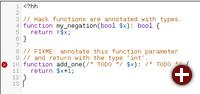 Code-Beispiel von Hack