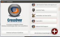 CrossOver 12.5 Startermenü
