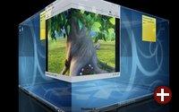 Der Würfel-Effekt ist in KDE 4.2 erstmals offiziell
