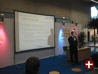 Daniel Riek (ID-Pro) bei seinem Vortrag