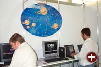 Das Forschungszentrum Karlsruhe (FZK) präsentierte wie im letzten Jahr Grid Computing