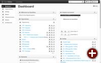 Dashboard von OpenSlides 1.7