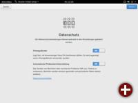 Datenschutzeinstellungen in gnome-initial-setup