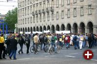 Demo auf den Karlsruher Straßen