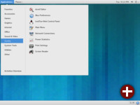 Gnome 3.10 im »Classic«-Modus, hier in Opensuse